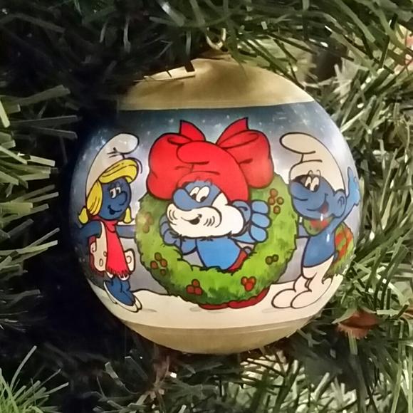 Smurf Holiday S Christmas Ornament 1982 Poshmark